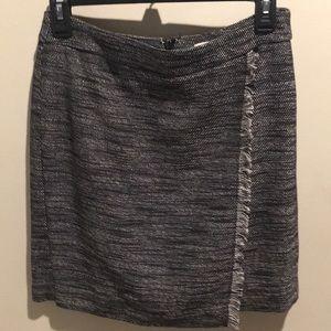 Work skirt, black and white.